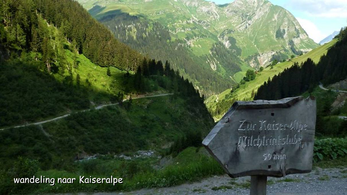 wandeling naar Kaiseralpe