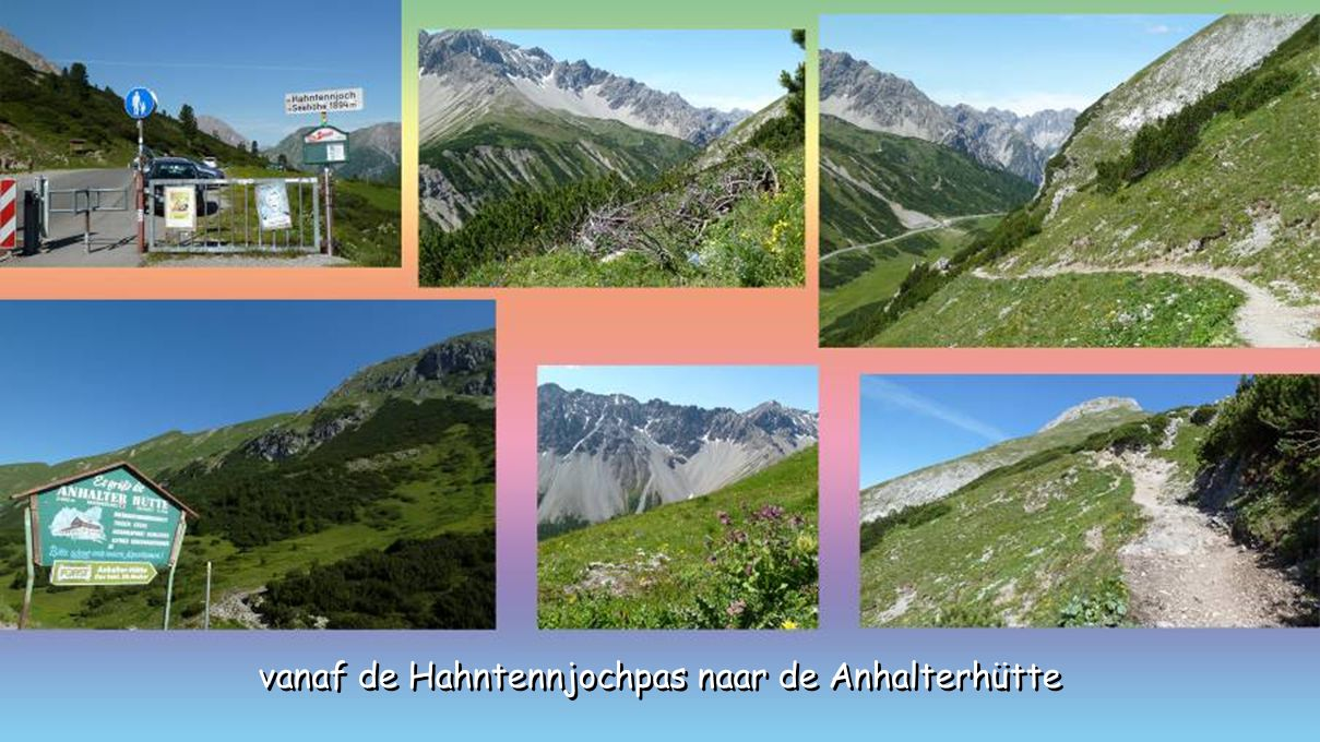 vanaf de Hahntennjochpas naar de Anhalterhütte