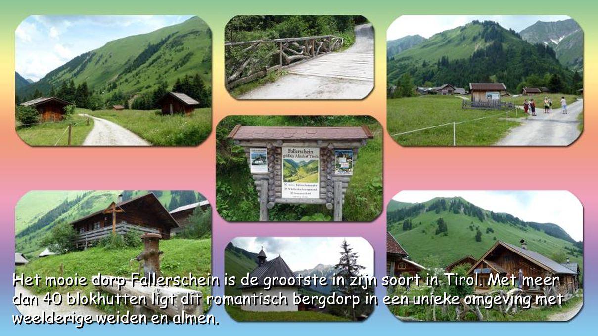 Het mooie dorp Fallerschein is de grootste in zijn soort in Tirol