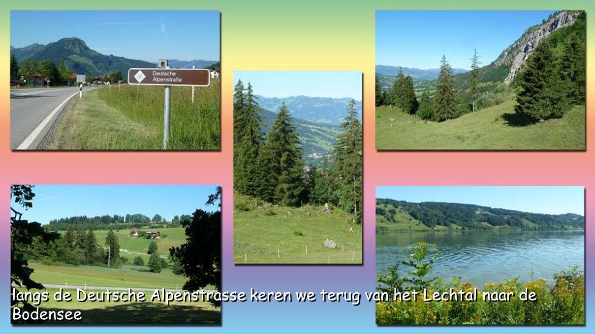 langs de Deutsche Alpenstrasse keren we terug van het Lechtal naar de Bodensee