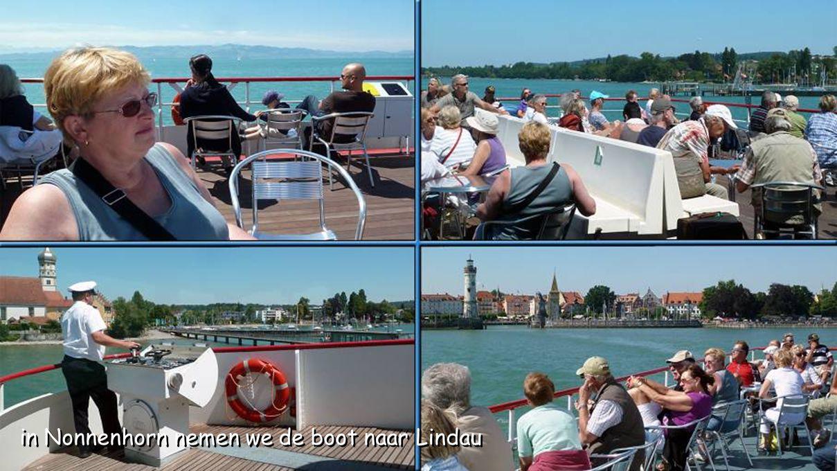 in Nonnenhorn nemen we de boot naar Lindau