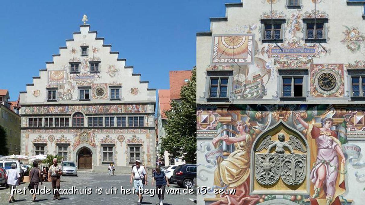 het oude raadhuis is uit het begin van de 15e eeuw