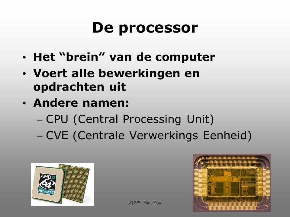 De processor Het brein van de computer