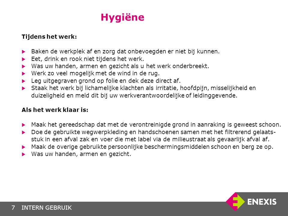 Hygiëne Tijdens het werk: