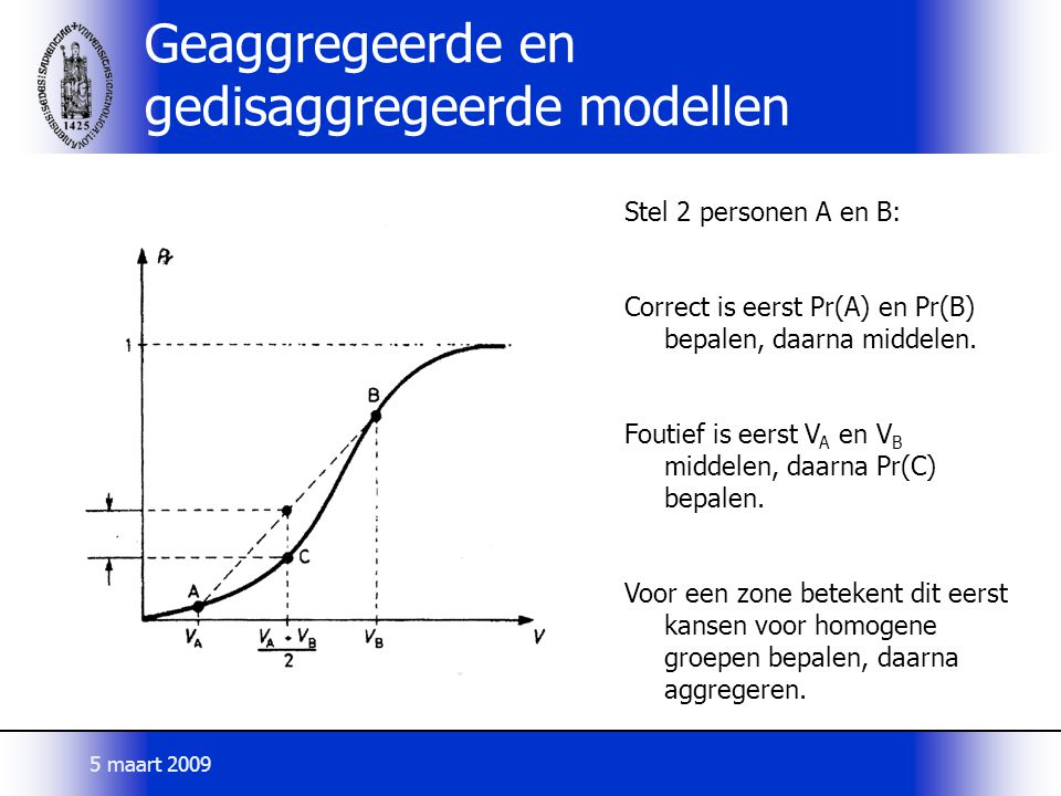 Geaggregeerde en gedisaggregeerde modellen