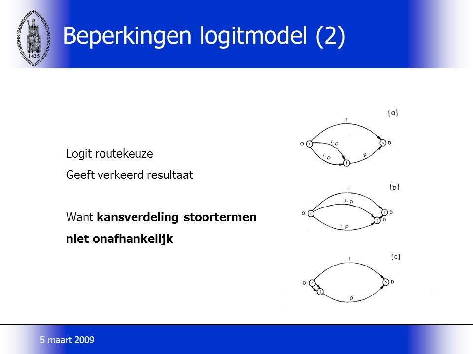 Beperkingen logitmodel (2)