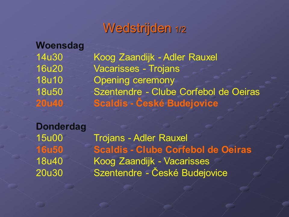 Wedstrijden 1/2 Woensdag 14u30 Koog Zaandijk - Adler Rauxel