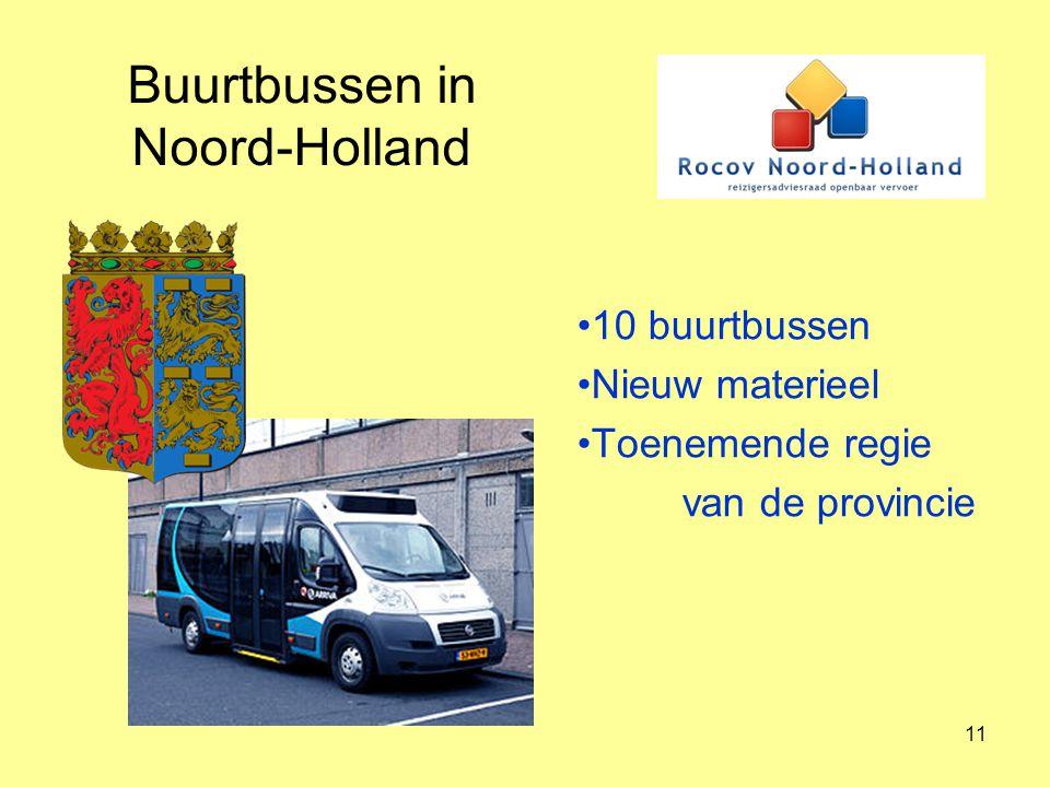 Buurtbussen in Noord-Holland