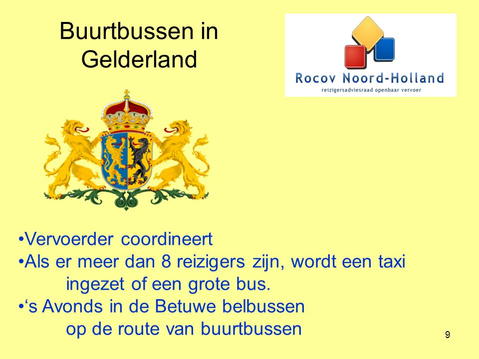 Buurtbussen in Gelderland