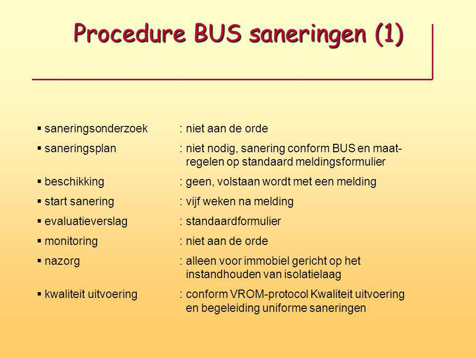 Procedure BUS saneringen (1)