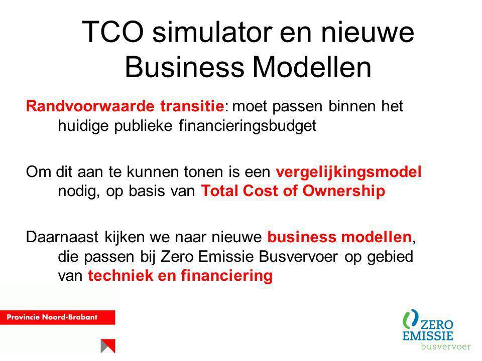 TCO simulator en nieuwe Business Modellen