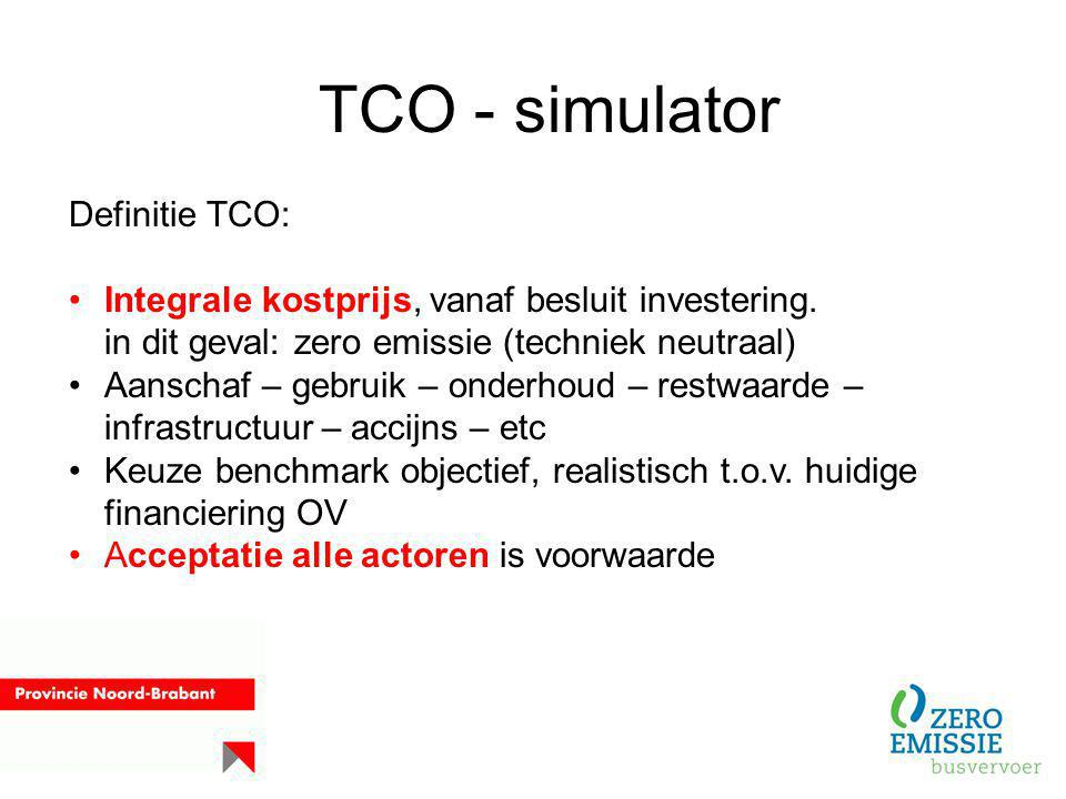 TCO - simulator Definitie TCO: