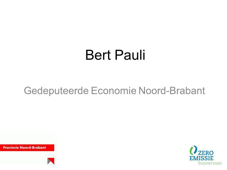Gedeputeerde Economie Noord-Brabant