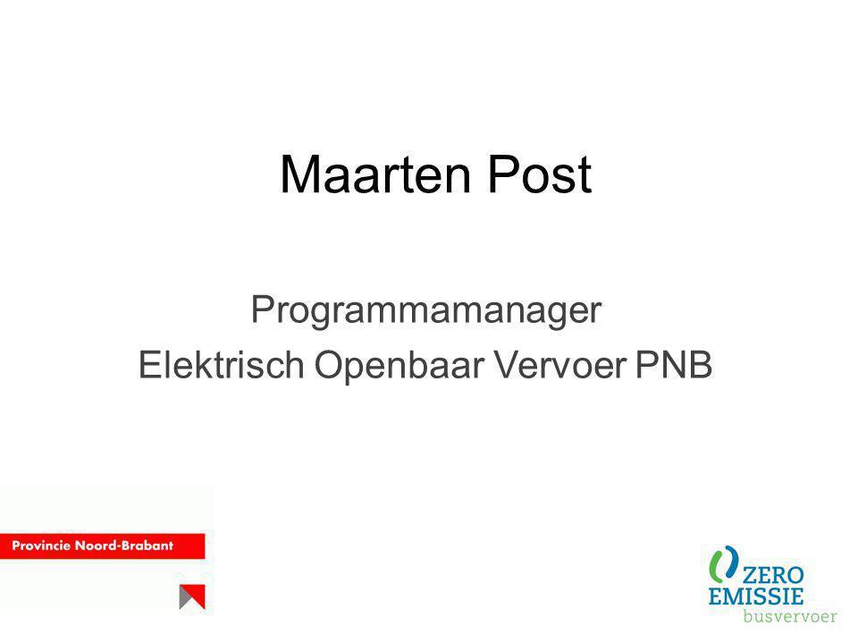 Programmamanager Elektrisch Openbaar Vervoer PNB