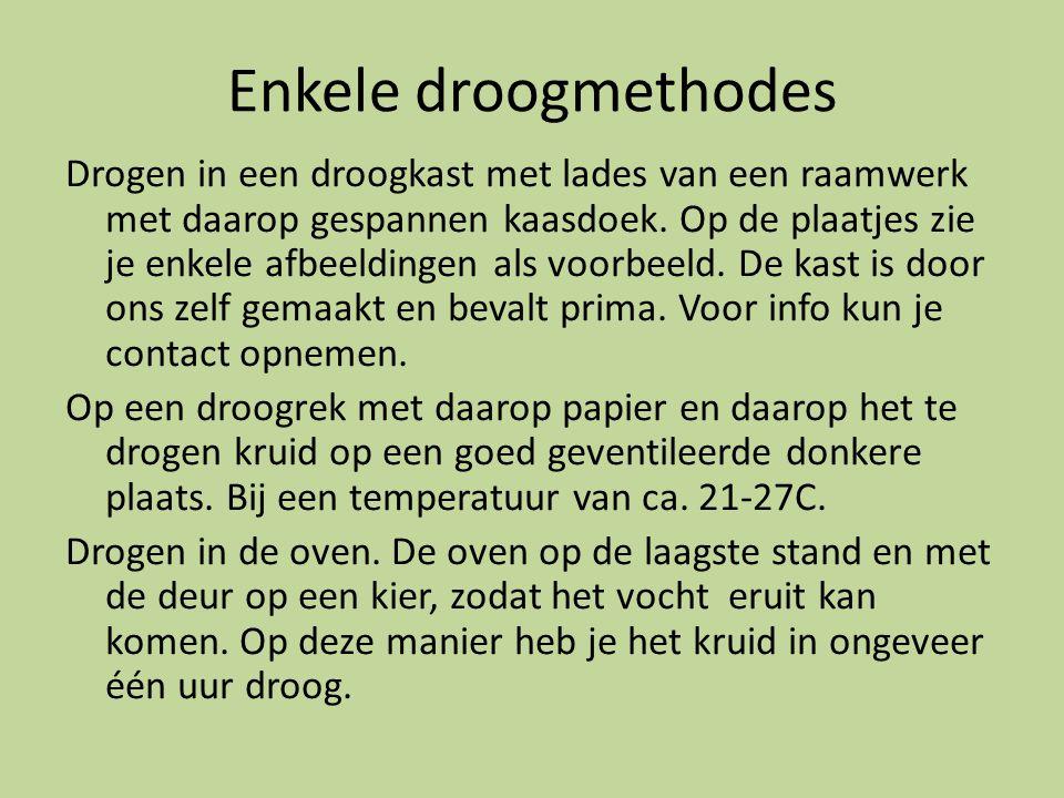 Enkele droogmethodes