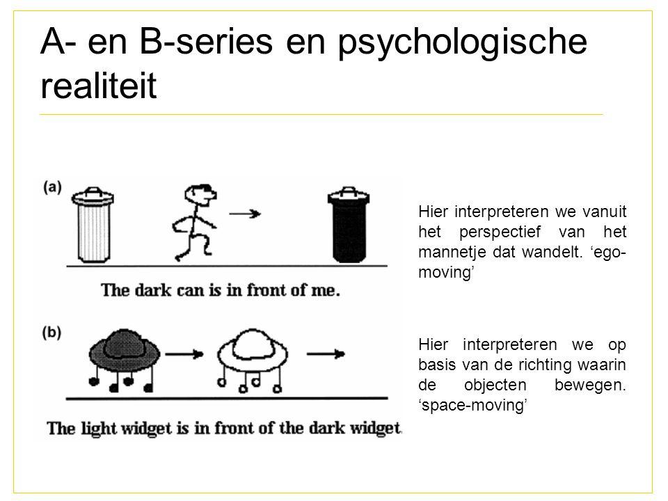 A- en B-series en psychologische realiteit