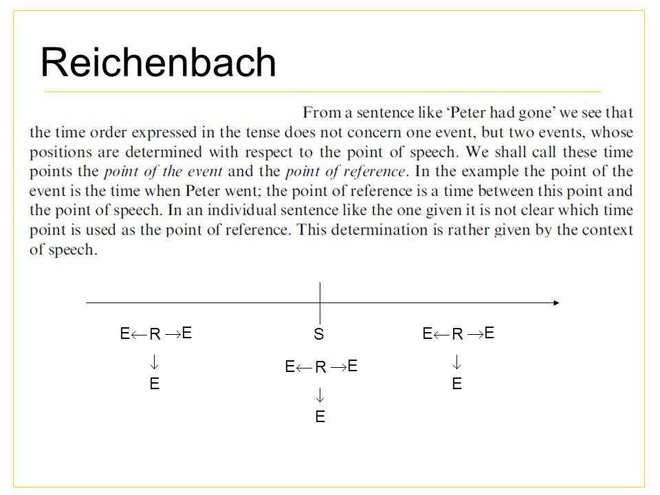 Reichenbach E R E S E R E  E E R E  E  E