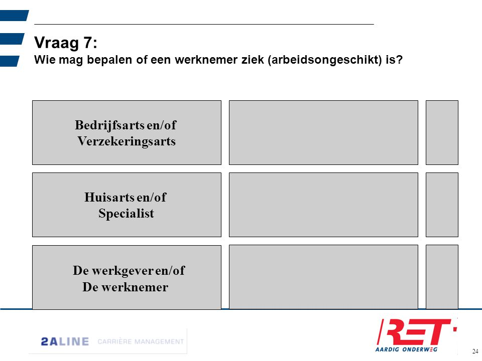 Vraag 7: Wie mag bepalen of een werknemer ziek (arbeidsongeschikt) is