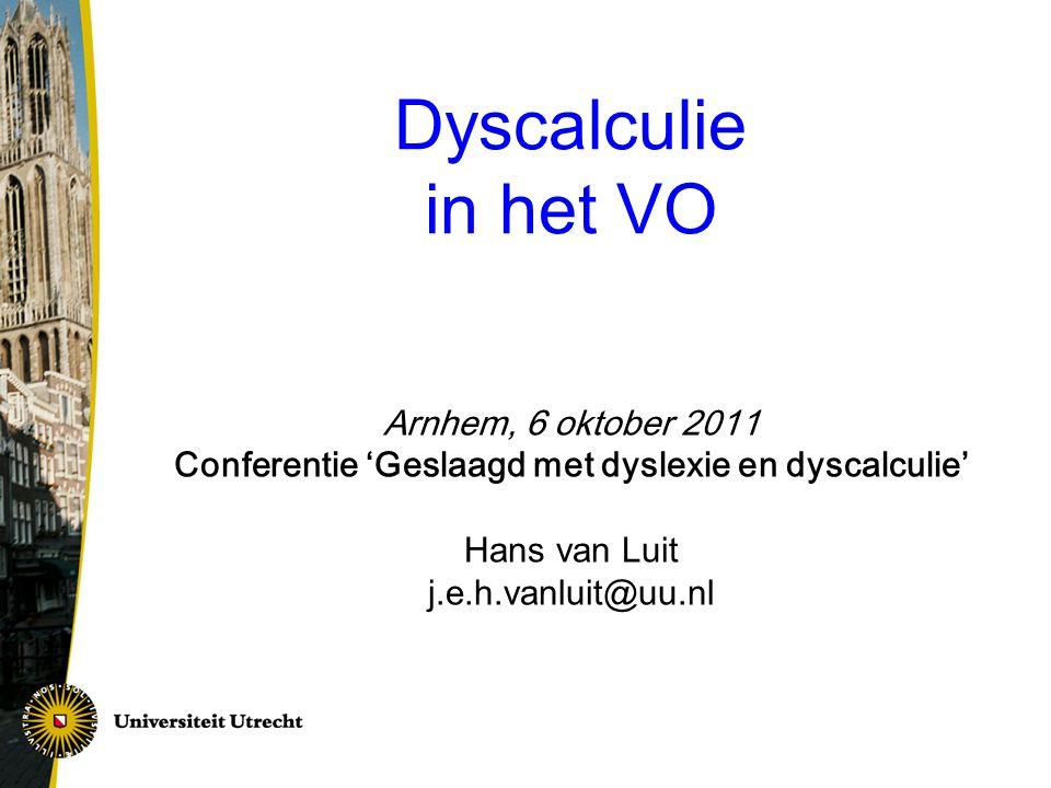 Conferentie 'Geslaagd met dyslexie en dyscalculie'