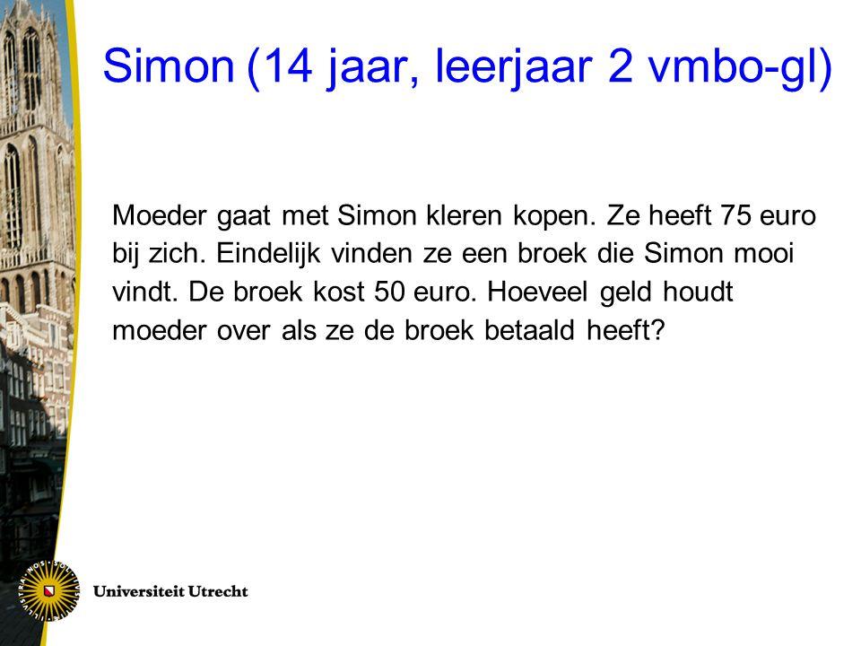 Simon (14 jaar, leerjaar 2 vmbo-gl)