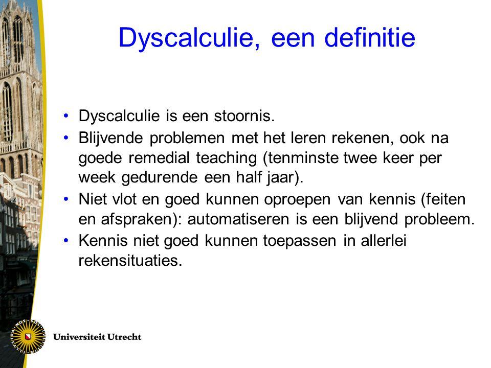 Dyscalculie, een definitie