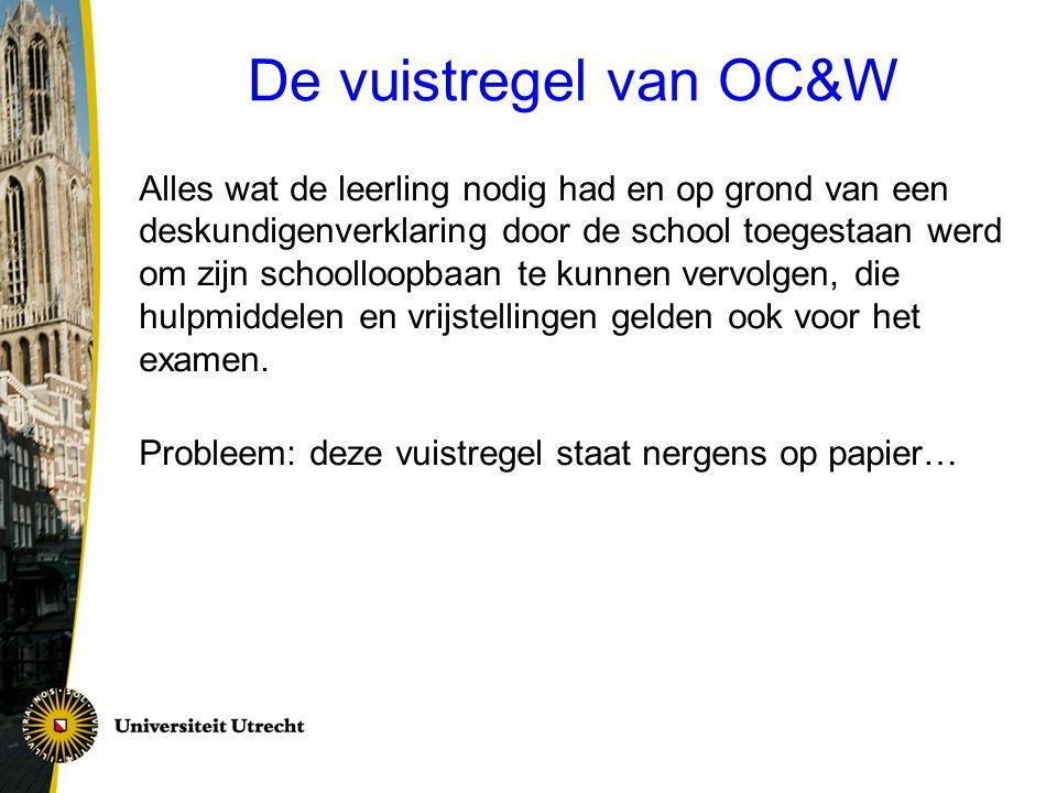 De vuistregel van OC&W