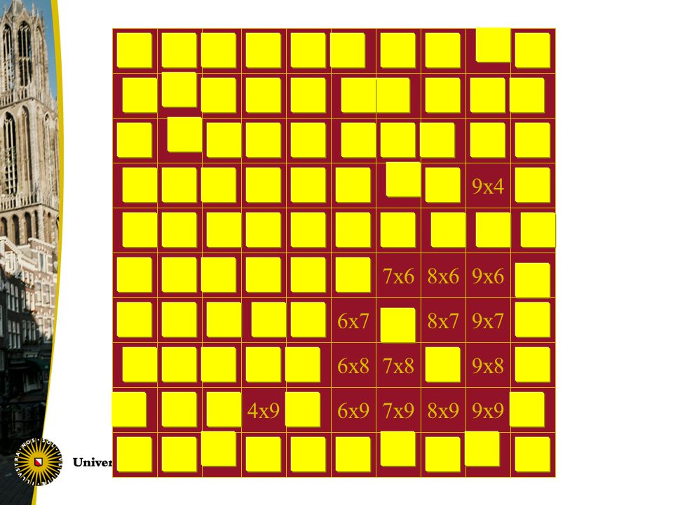 9x4 7x6 8x6 9x6 6x7 8x7 9x7 6x8 7x8 9x8 4x9 6x9 7x9 8x9 9x9