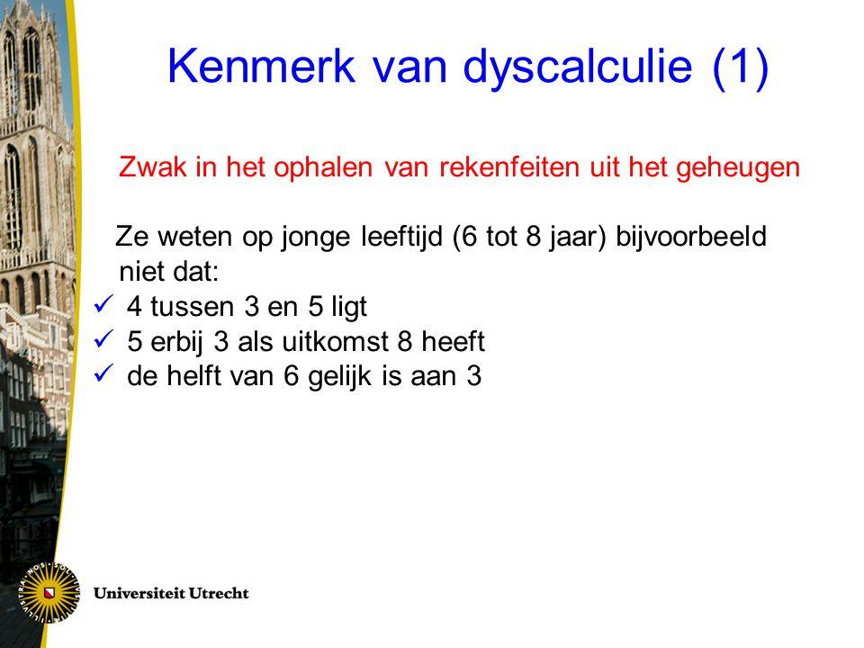 Kenmerk van dyscalculie (1)