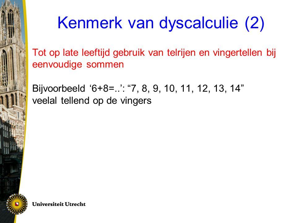 Kenmerk van dyscalculie (2)