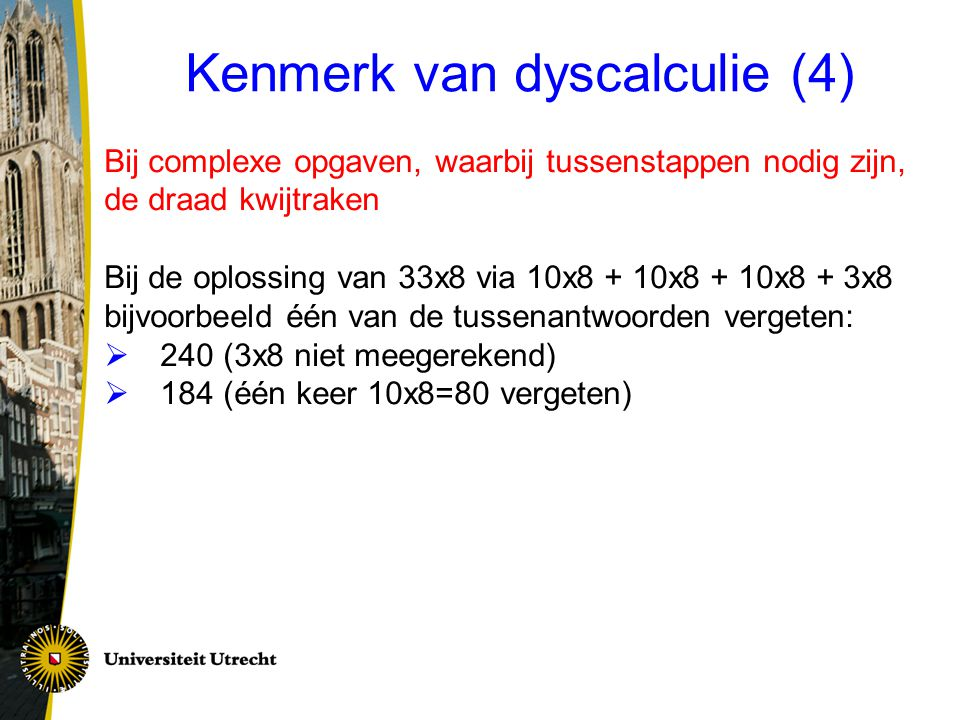 Kenmerk van dyscalculie (4)
