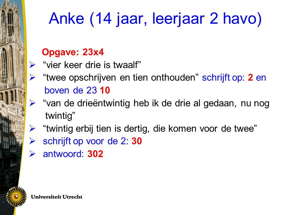 Anke (14 jaar, leerjaar 2 havo)