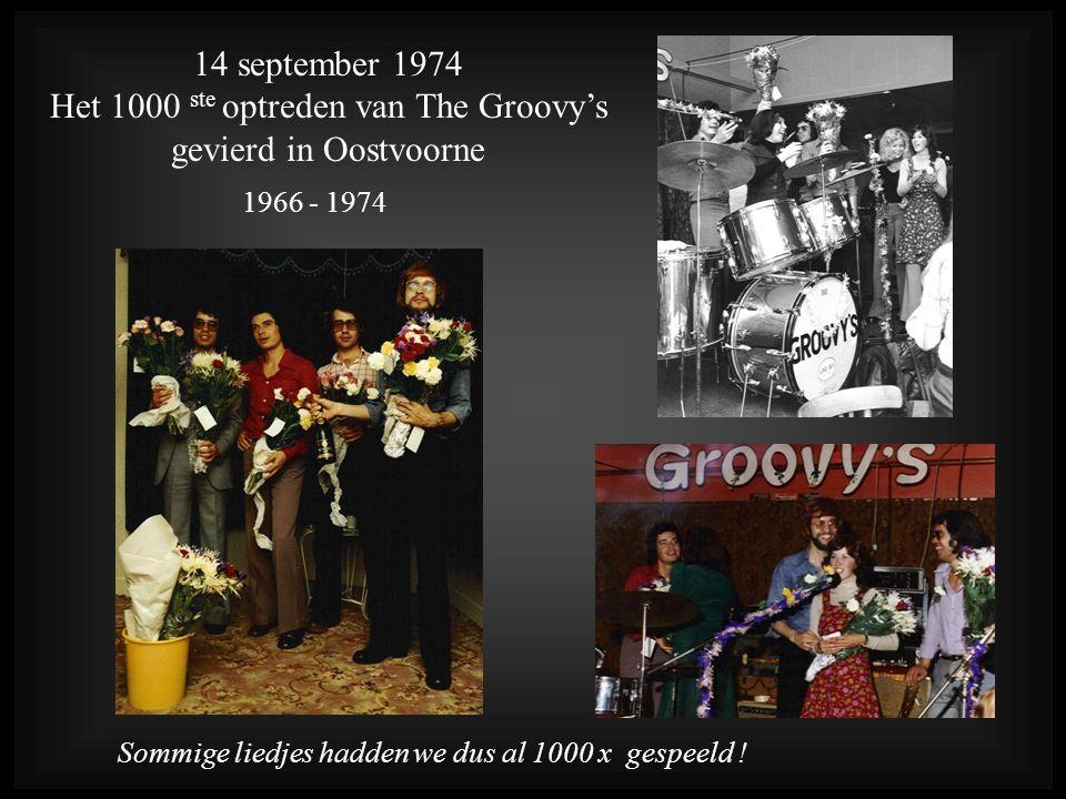 Het 1000 ste optreden van The Groovy's gevierd in Oostvoorne