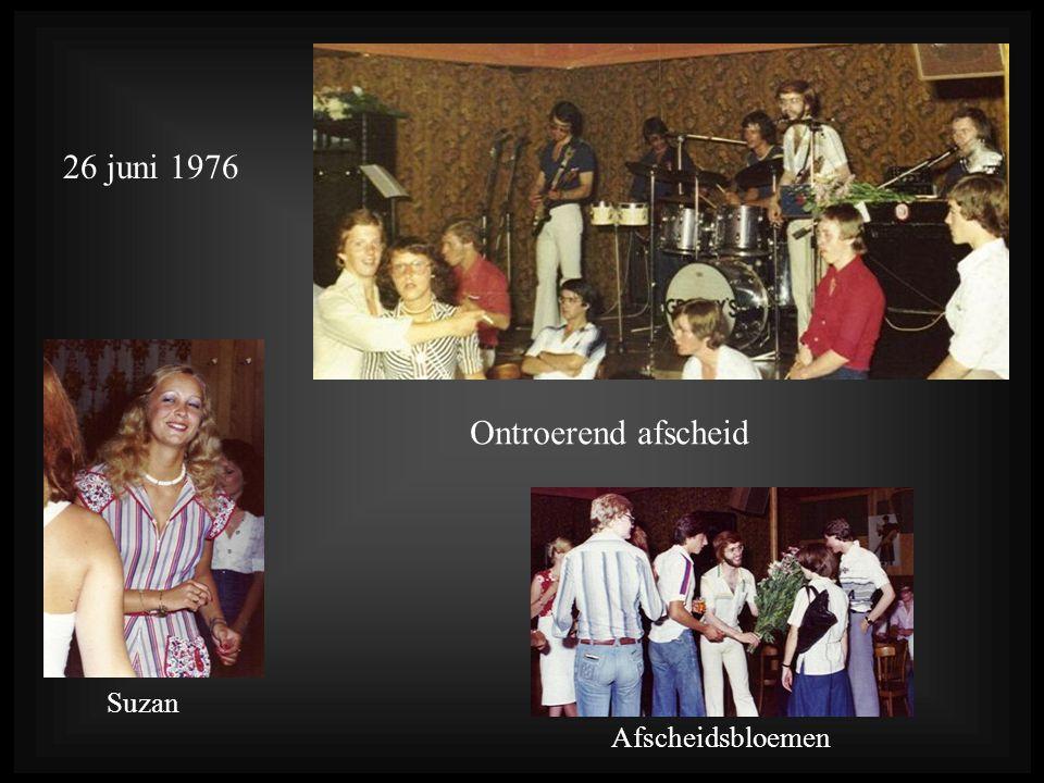 26 juni 1976 Ontroerend afscheid Suzan Afscheidsbloemen
