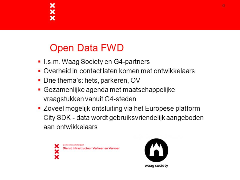 Open Data FWD I.s.m. Waag Society en G4-partners