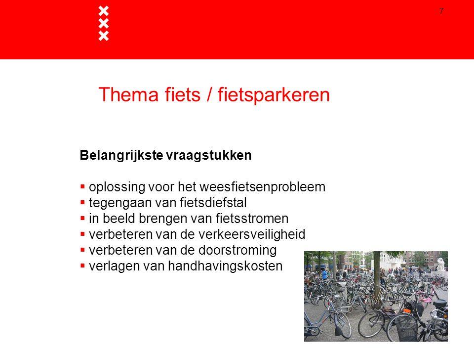 Thema fiets / fietsparkeren