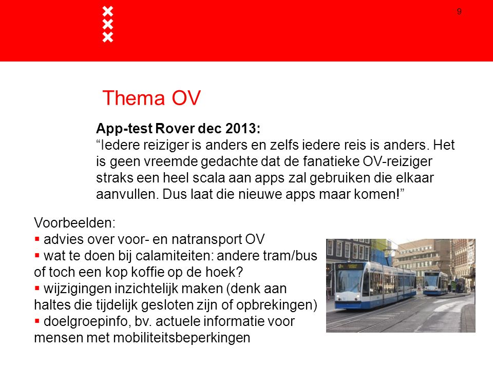 Thema OV App-test Rover dec 2013: