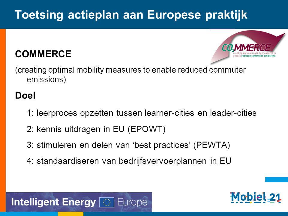 Toetsing actieplan aan Europese praktijk