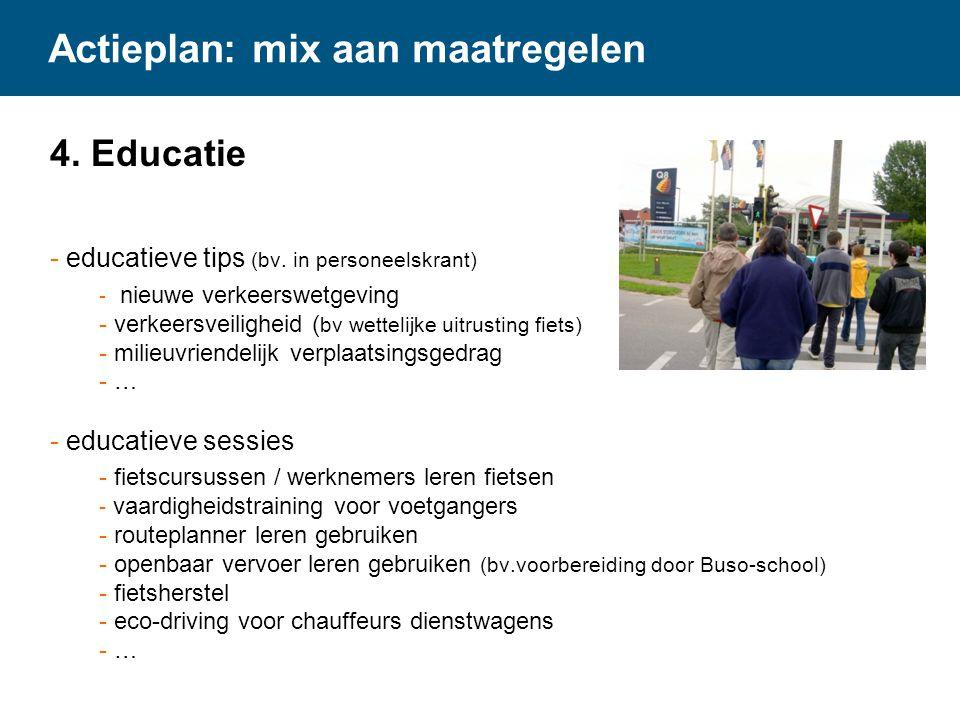 Actieplan: mix aan maatregelen