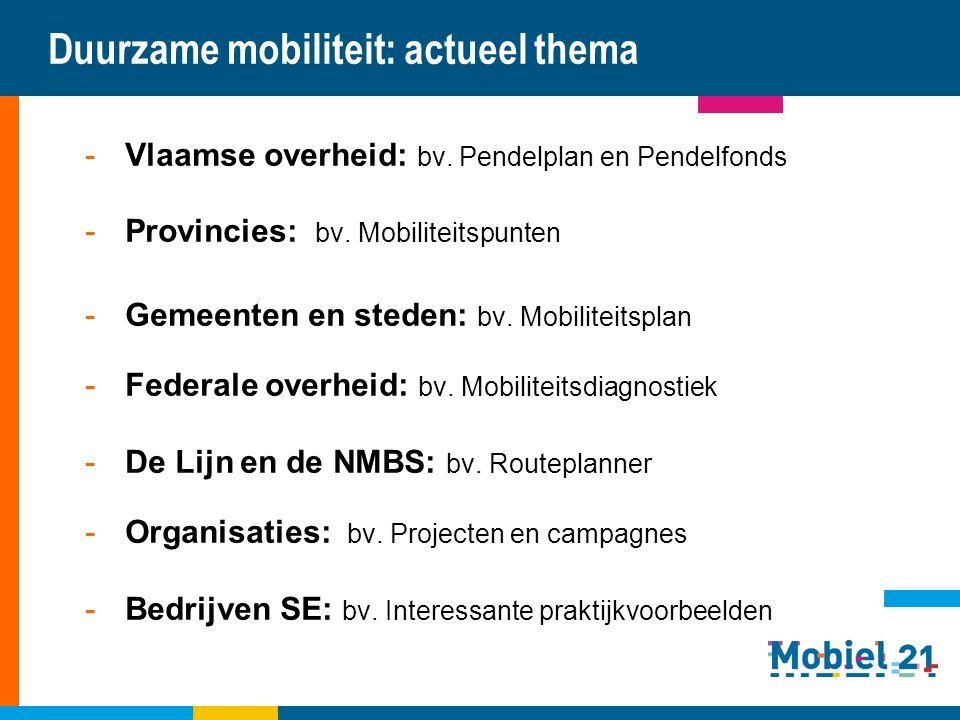 Duurzame mobiliteit: actueel thema