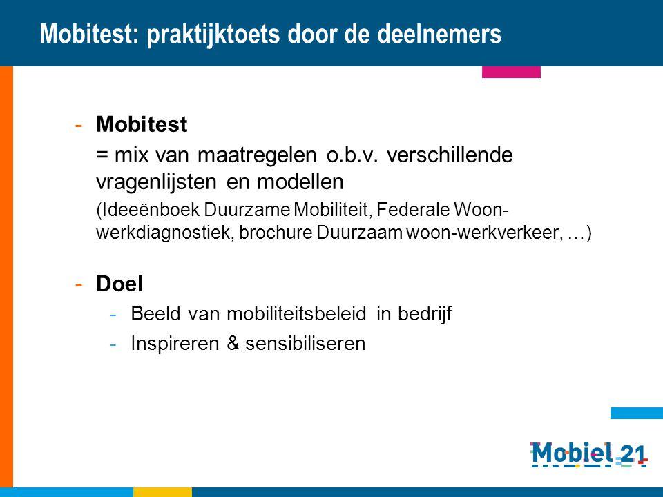 Mobitest: praktijktoets door de deelnemers
