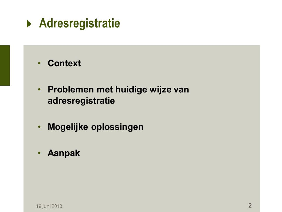 Adresregistratie Context