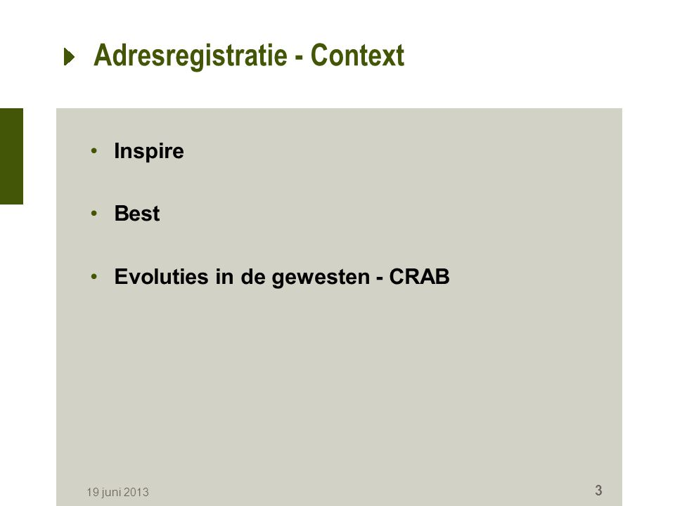 Adresregistratie - Context