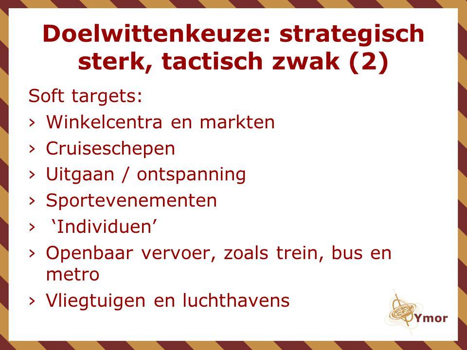 Doelwittenkeuze: strategisch sterk, tactisch zwak (2)