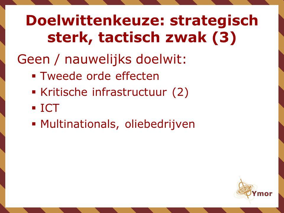 Doelwittenkeuze: strategisch sterk, tactisch zwak (3)