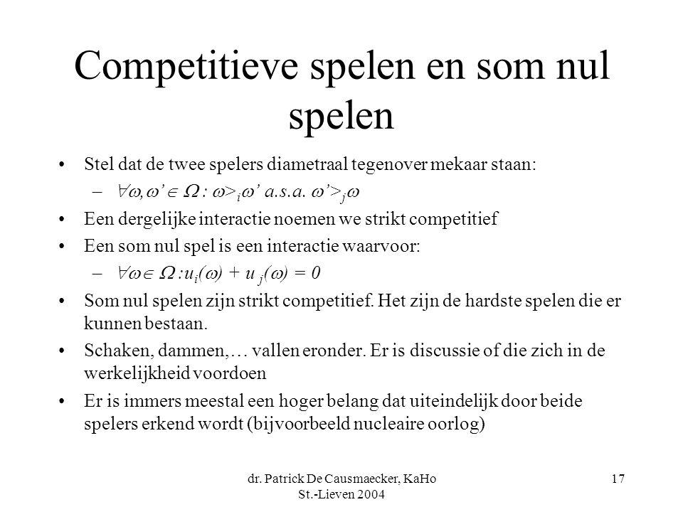 Competitieve spelen en som nul spelen
