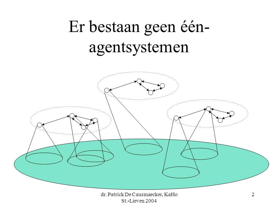Er bestaan geen één-agentsystemen