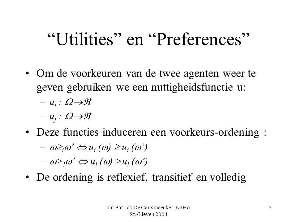 Utilities en Preferences