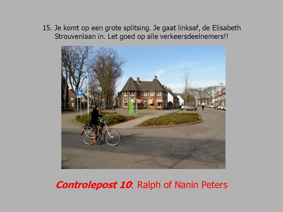 Controlepost 10: Ralph of Nanin Peters