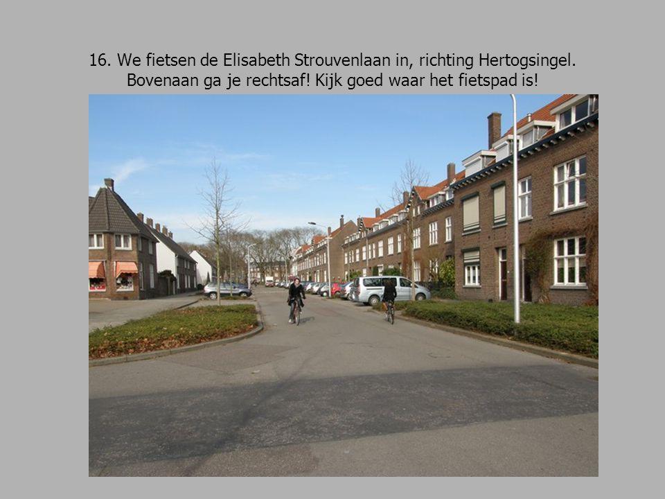 16. We fietsen de Elisabeth Strouvenlaan in, richting Hertogsingel