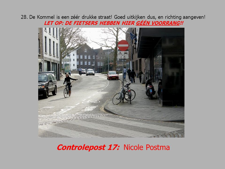 Controlepost 17: Nicole Postma